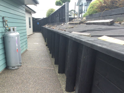 Higgins fencing retaining walls in Nelson Tasman