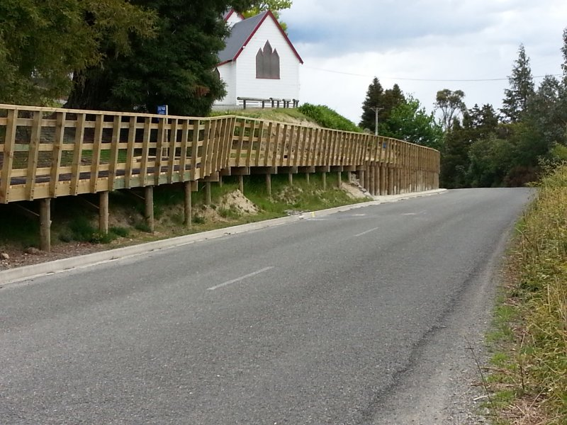 Higgins fencing retaining walls in Nelson Tasman