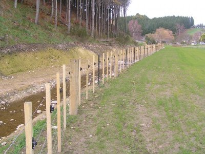 Higgins waterways management fencing in Nelson Tasman